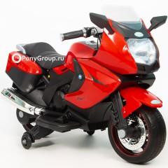 Детский электрический мотоцикл BMW M001AA (резиновые колеса, кожа)