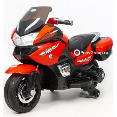 Детский мотоцикл BMW R1200RT M007AA HZB118 (с резиновыми колесами, кожаным сиденьем)