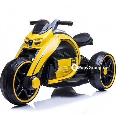 Детский мотоцикл Bugatti M010AA (с резиновыми колесами, кожаным сиденьем)