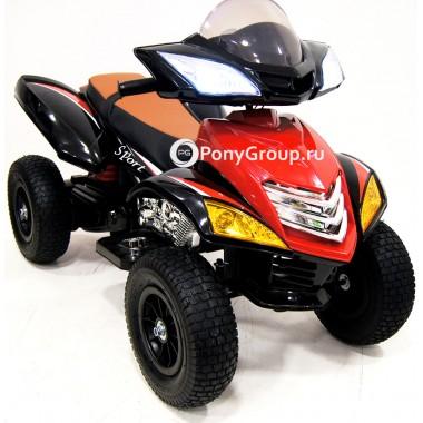 Детский квадроцикл E005KX-A (с резиновыми надувными колесами, кожаным сиденьем)