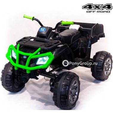 Детский квадроцикл 0909 Grizzly Next 4x4 T009MP BDM0909 (полноприводный 4WD с резиновыми колесами, кожаным сиденьем)
