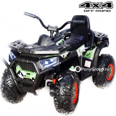 Детский квадроцикл Qwatro XMX 607 4x4 (полноприводный 4WD с резиновыми колесами, кожаным сиденьем)
