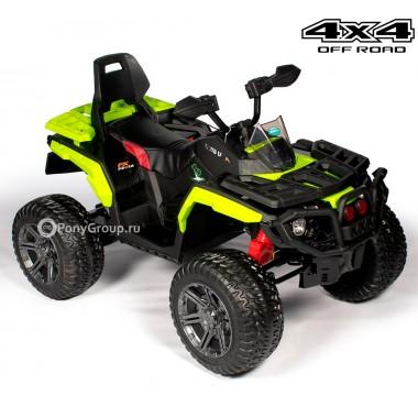 Детский квадроцикл T099MP BBH 3588 4x4 (полноприводный 4WD с резиновыми колесами, кожаным сиденьем)