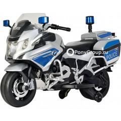 Детский электрический мотоцикл BMW Police Z212 (резиновые колеса)