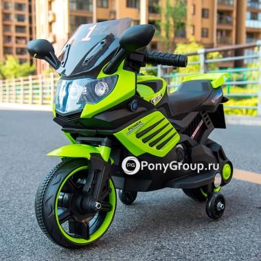 Детский электрический мотоцикл Minimoto LQ 158 (резиновые колеса, кожа)
