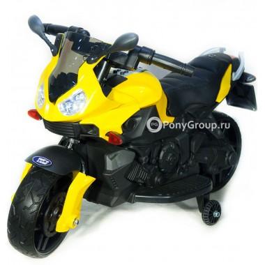 Детский мотоцикл Moto JC 917 (с резиновыми колесами, кожаным сиденьем)