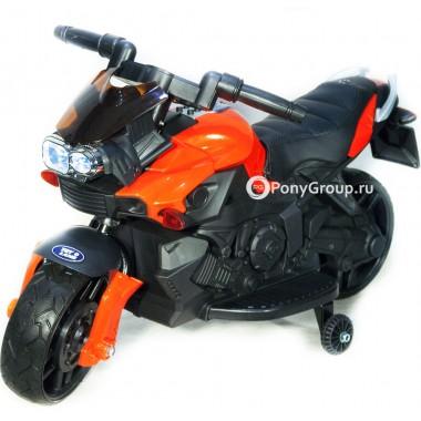 Детский мотоцикл Moto JC 918 (с резиновыми колесами, кожаным сиденьем)