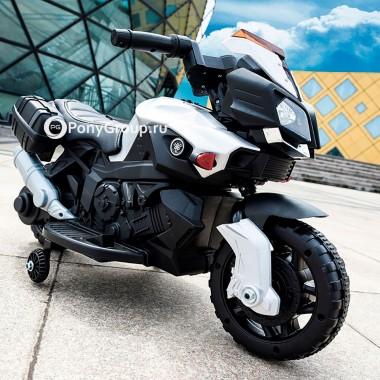 Детский мотоцикл Moto JC 919 (с резиновыми колесами, кожаным сиденьем)