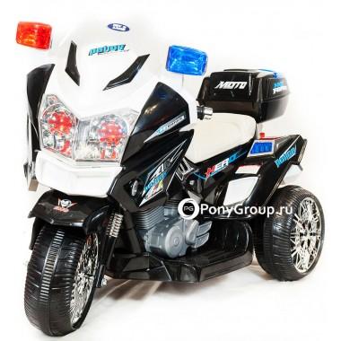 Детский мотоцикл MOTO POLICE СН8815 (с кожаным сиденьем)