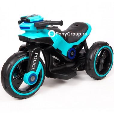 Детский мотоцикл Y-MAXI Police YM 198 (с кожаным сиденьем)