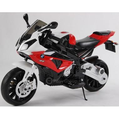Детский мотоцикл BMW JT528 (с резиновыми колесами, кожаным сиденьем)
