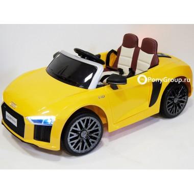 Детский электромобиль AUDI R8 (резиновые колеса, кожа)