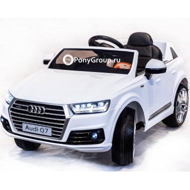 Детский электромобиль AUDI Q7 HL159 (с резиновыми колесами, кожаным сиденьем)