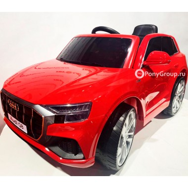 Детский электромобиль AUDI Q8 JJ2066 (с резиновыми колесами, кожаным сиденьем)