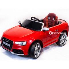 Детский электромобиль AUDI RS5 (резиновые колеса, кожа, регулировка сиденья)