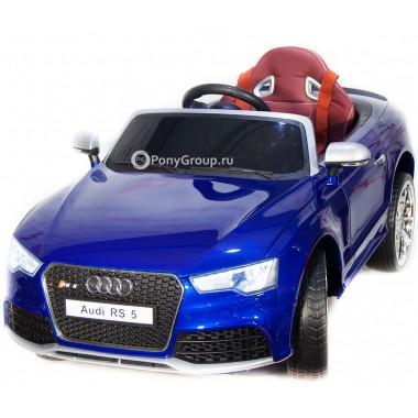 Детский электромобиль AUDI RS5 (с резиновыми колесами, кожаным сиденьем с регулировкой)