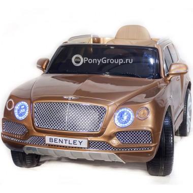 Детский электромобиль BENTLEY BENTAYGA JJ2158 (с резиновыми колесами, кожаным сиденьем)