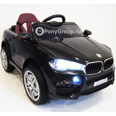 Детский электромобиль BMW O006OO VIP (с резиновыми колесами, кожаным сиденьем)