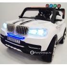 Детский электромобиль BMW T005TT (двухместный, кожа, резиновые колеса)