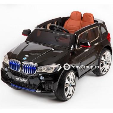 Детский электромобиль BMW X5 M555MP кузов F-15 performance (с резиновыми колесами, кожаным сиденьем)