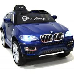 Детский электромобиль BMW X6 (резиновые колеса, кожа)