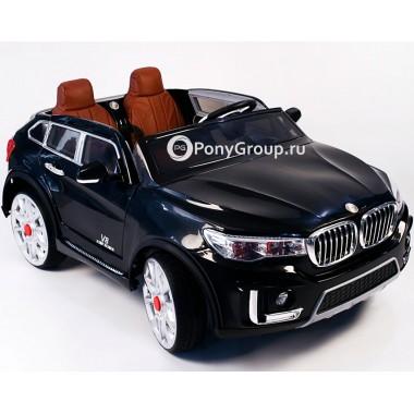 Детский электромобиль BMW X7 M333MM (двухместный с резиновыми колесами и кожаным сиденьем)