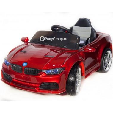 Детский электромобиль BMW 3 G BBH-718B (с резиновыми колесами, кожаным сиденьем)
