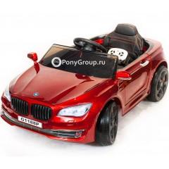 Детский электромобиль BMW 5 (резиновые колеса, кожа)