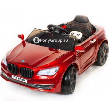 Детский электромобиль BMW 5 G1188 (с резиновыми колесами, кожаным сиденьем)