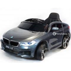 Детский электромобиль BMW 6 GT (резиновые колеса, кожа)