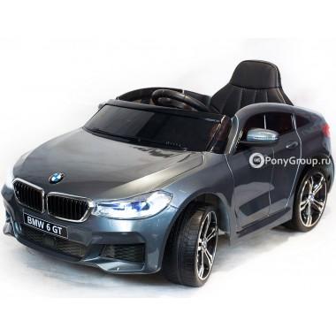Детский электромобиль BMW 6 GT JJ2164 (с резиновыми колесами, кожаным сиденьем)