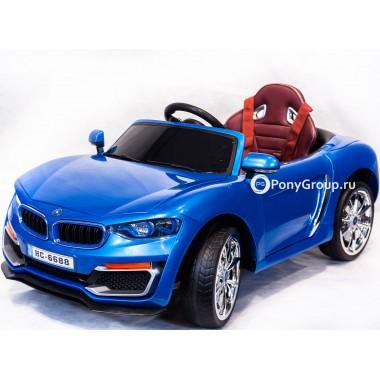 Детский электромобиль BMW HC 6688 (с резиновыми колесами, кожаным сиденьем)