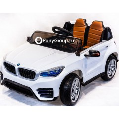 Детский электромобиль BMW JH 9996 (резиновые колеса, кожа)