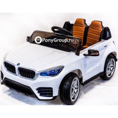 Детский электромобиль BMW JH-9996 (с резиновыми колесами, кожаным сиденьем)