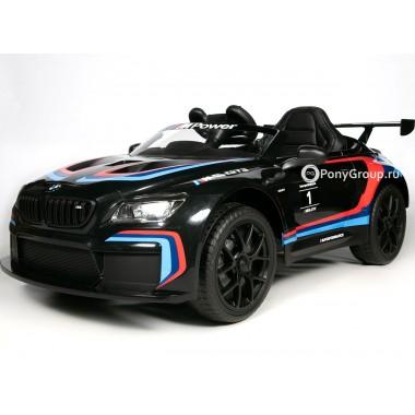Детский электромобиль BMW M6 GT3 Z6666R (резиновые колеса, кожа)