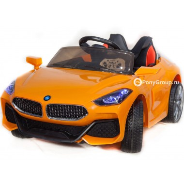 Детский электромобиль BMW SPORT YBG5758 (с резиновыми колесами, кожаным сиденьем)