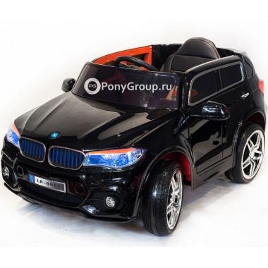 Детский электромобиль BMW X5 LB 88A (с резиновыми колесами, кожаным сиденьем)