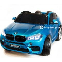 Детский электромобиль BMW X6M (ДВУХМЕСТНЫЙ, резиновые колеса, кожа)