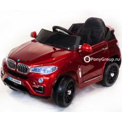 Детский электромобиль BMW X6 VIP (резиновые колеса, кожа)