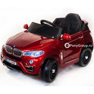 Детский электромобиль BMW X6 VIP KD 5188 (с резиновыми колесами, кожаным сиденьем)