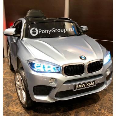 Детский электромобиль BMW X6M mini JJ2199 (с резиновыми колесами, кожаным сиденьем)