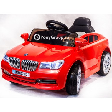Детский электромобиль BMW XMX 826 (с резиновыми колесами, кожаным сиденьем)