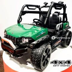 Детский электромобиль BUGGY 3314 YEG3314 4x4 (ПОЛНЫЙ ПРИВОД, ДВУХМЕСТНЫЙ, кожа, резиновые колеса)