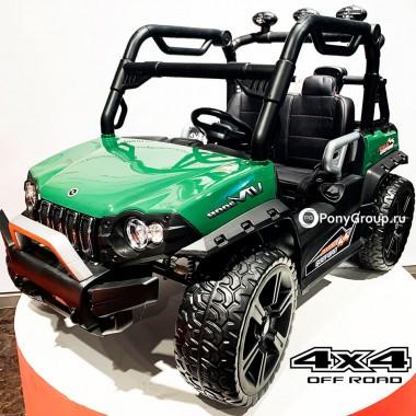 Детский электромобиль BUGGY 3314 YEG3314 4x4 (двухместный, полноприводный 4WD с резиновыми колесами и кожаным сиденьем)