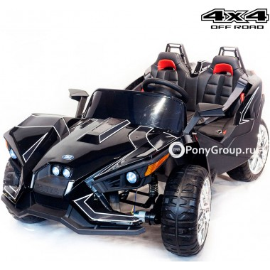 Детский электромобиль BUGGY JC888 4х4 (двухместный, полноприводный 4WD с резиновыми колесами и кожаным сиденьем)