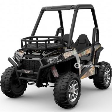 Детский электромобиль BUGGY JS370 (с резиновыми колесами и кожаным сиденьем)
