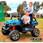 Детский электромобиль BUGGY S2588 (F007) 4х4 (ПОЛНЫЙ ПРИВОД, ДВУХМЕСТНЫЙ, кожа, резиновые колеса)