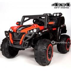 Детский электромобиль BUGGY T777MP 4x4 (МОНИТОР MP4, ПОЛНЫЙ ПРИВОД,  кожа, резиновые колеса)