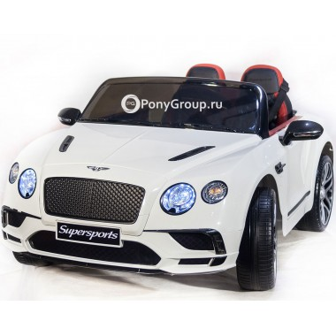 Детский электромобиль Bentley Continental Supersports (резиновые колеса, кожа)