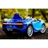 Детский электромобиль Bugatti Chiron HL318 (с резиновыми колесами, кожаным сиденьем)
